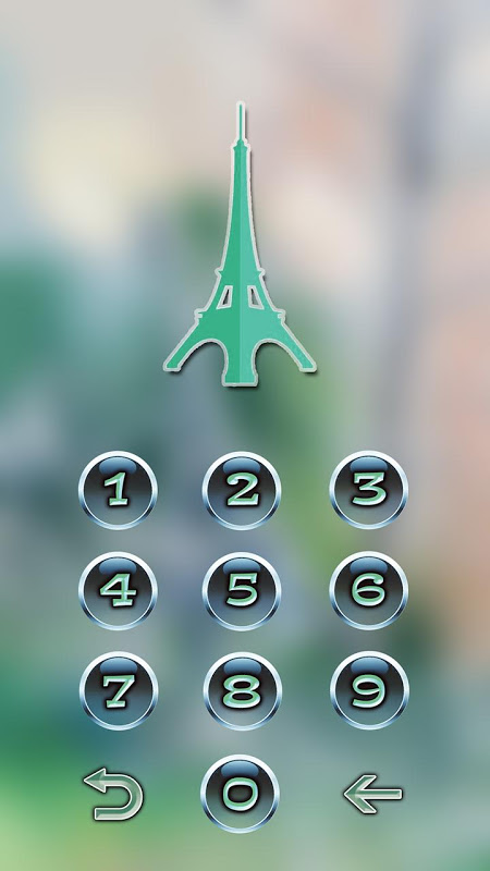 Android Eiffel Tower Of Paris Locker Screen 5