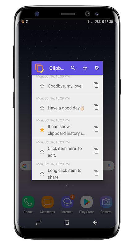 Android Clipboard History - Copy paste anywhere Screen 2