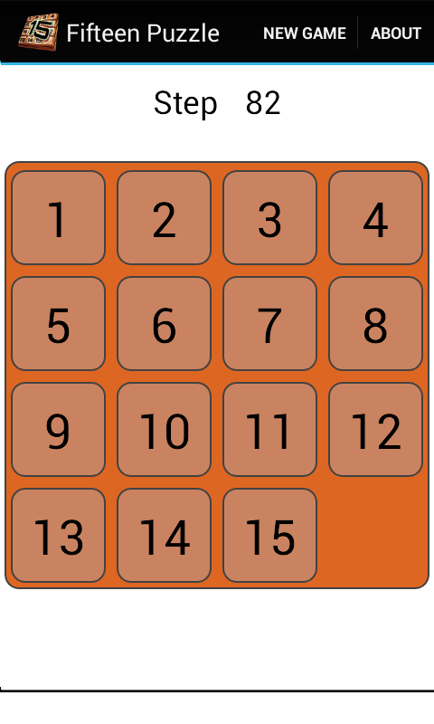 Fifteen Puzzle 2.6.8 Screen 1