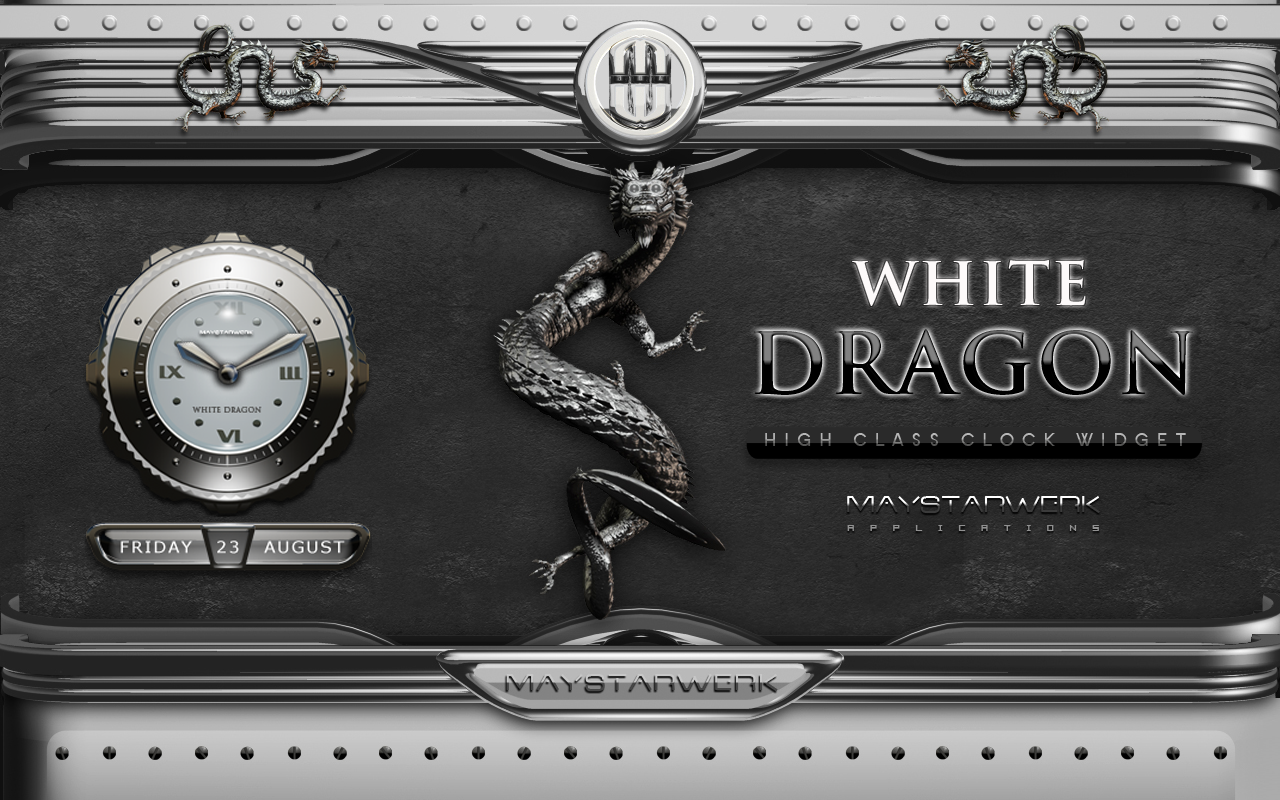 Android Dragon Clock Widget white Screen 6