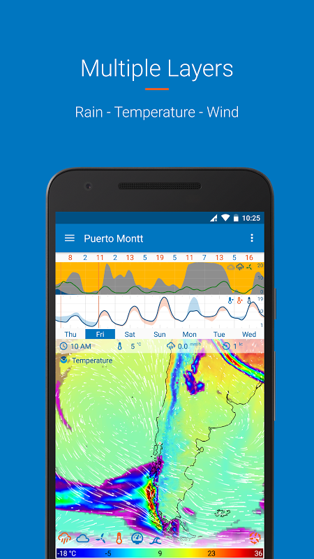Android Flowx: visual long range weather forecast Screen 7