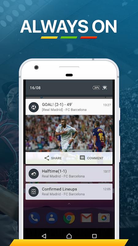 365Scores: Sports Scores Live 5.1.3 Screen 10