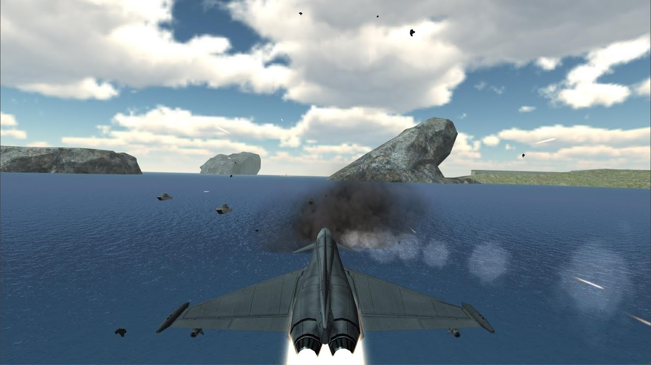 Android F18 Airplane Pilot Simulator Screen 3