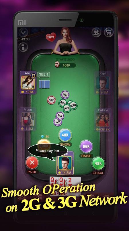 Android Teen Patti Raja- Indian poker and 3 patti free casino game Screen 5