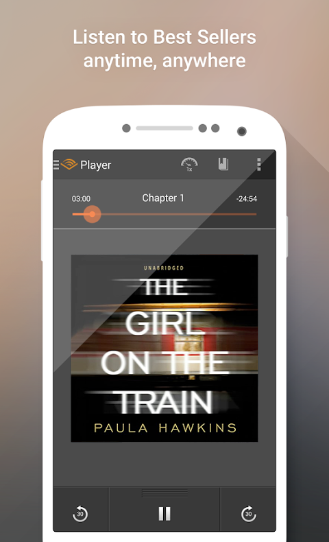 Android Audiobooks from Audible Screen 1