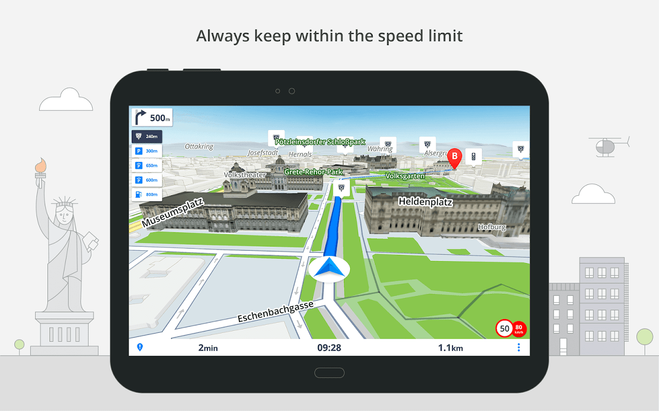 Android GPS Navigation & Maps Sygic Screen 13