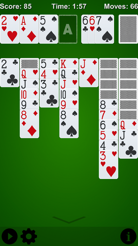 Solitaire* 1.0.2 Screen 1