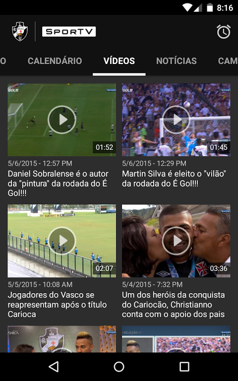 Android Vasco SporTV Screen 4