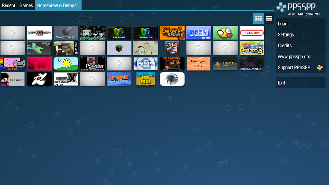 Android PPSSPP Gold - PSP emulator Screen 1
