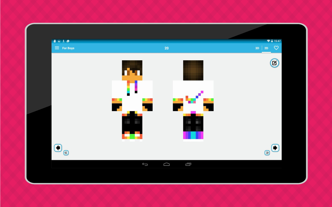 Android World of Skins Screen 7