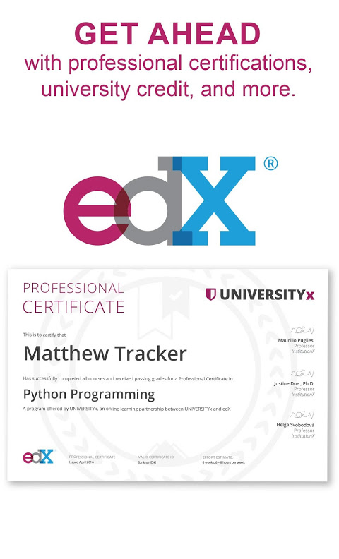 edX - Online Courses by Harvard, Oxford, & more 2.15.2 Screen 5