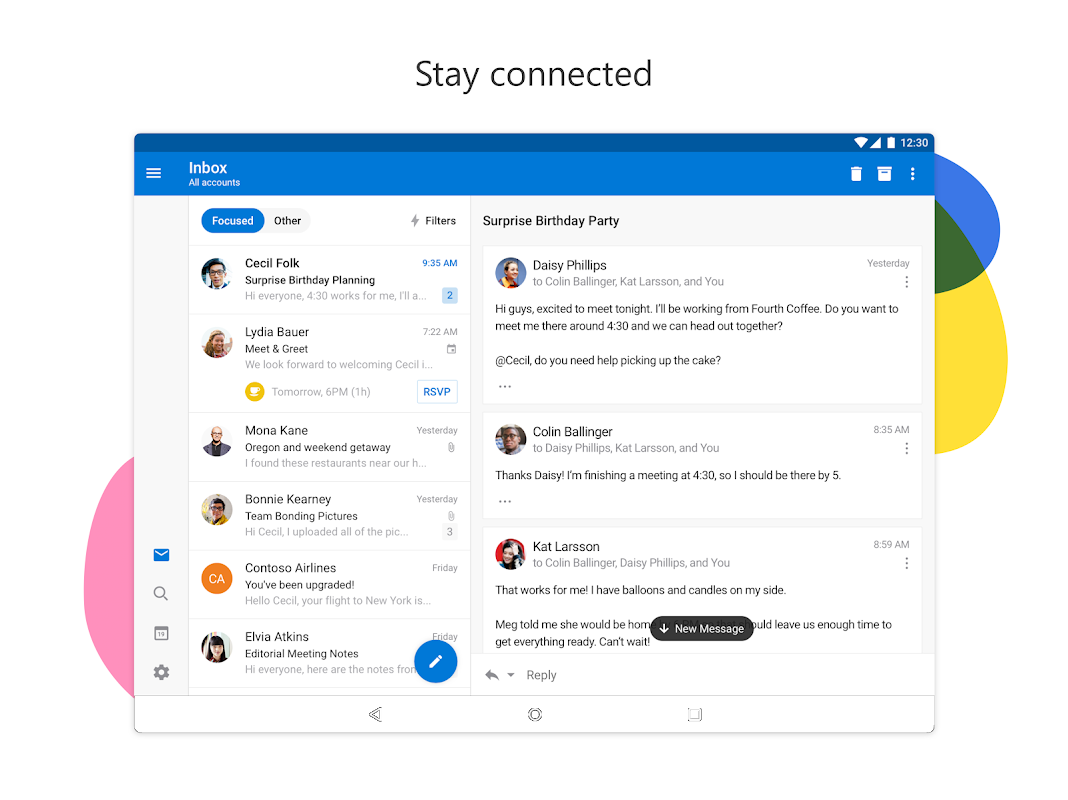 Android Microsoft Outlook Screen 3