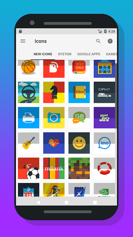 Nougat Square - Icon Pack 1.3.8.1 Screen 2