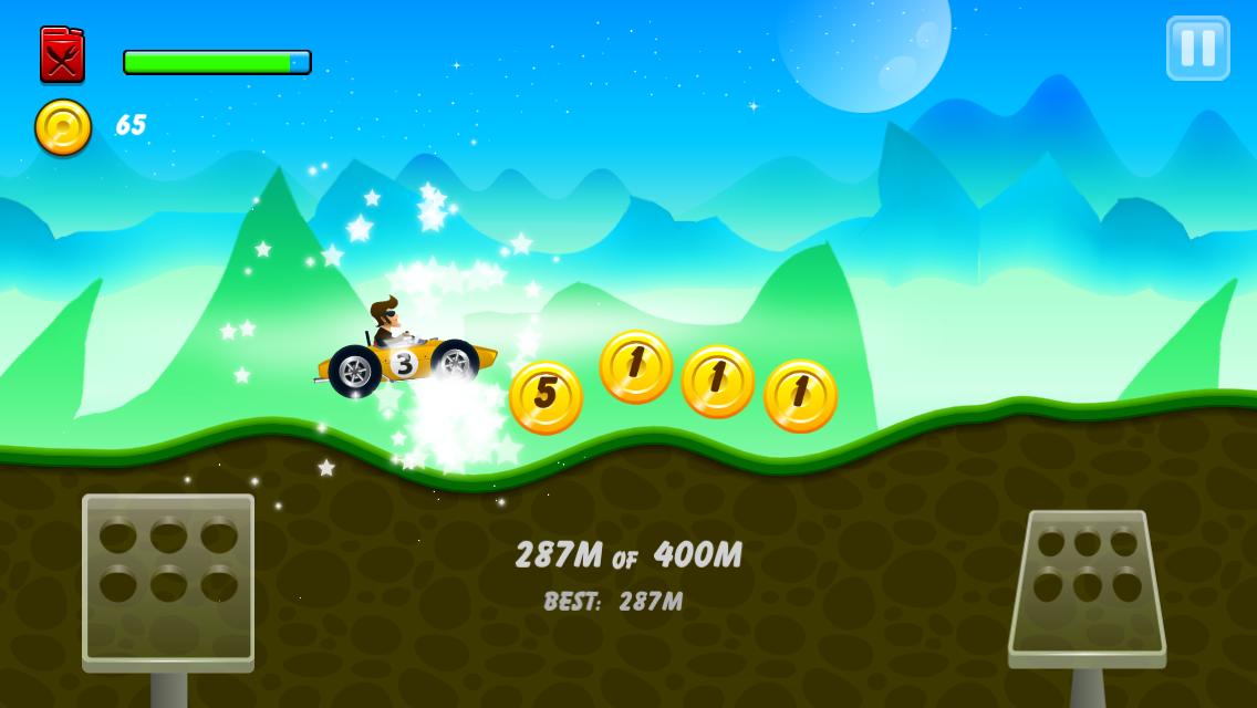 Android Hill Racing: mountain climb Screen 1