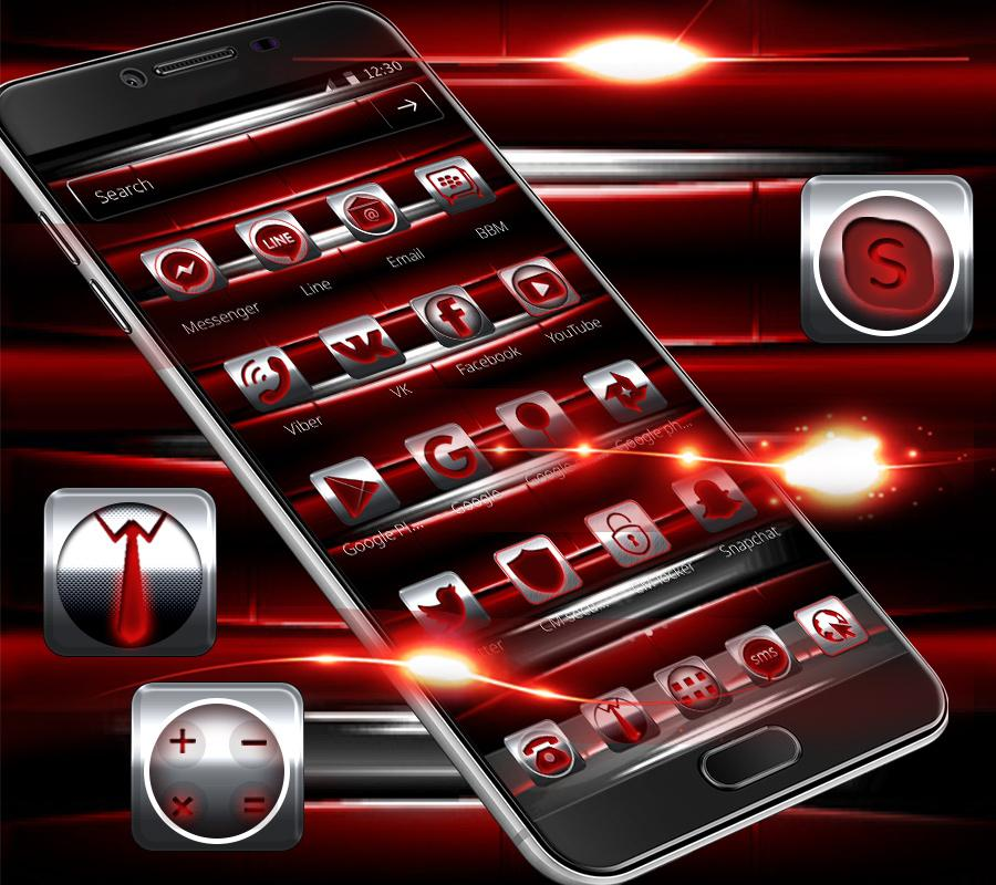 Red Iron Icons Theme 1.1.3 Screen 1