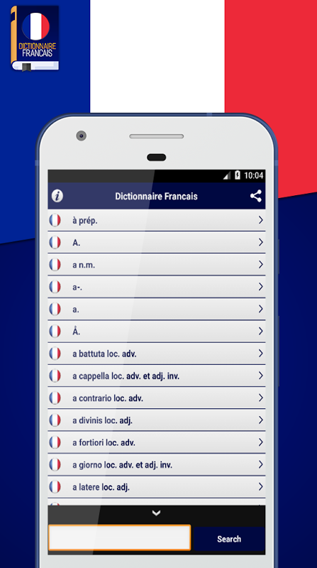 Android Dictionnaire Francais Screen 1