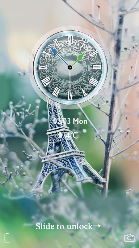 Android Eiffel Tower Of Paris Locker Screen 1