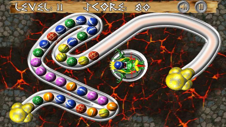 Android Dragon Zuma Ball Blast Screen 1