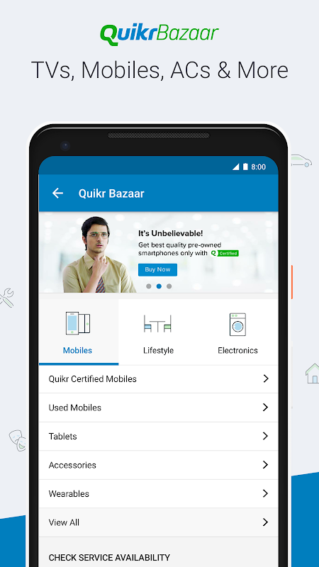 Android Quikr – Search Jobs, Mobiles, Cars, Home Services Screen 3