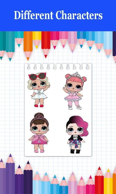 Android Surprise Coloring Book LOL Dolls Screen 3