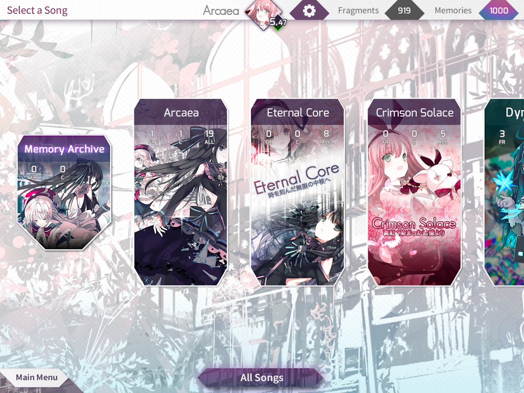 Arcaea - New Dimension Rhythm Game 2.0.3 Screen 5