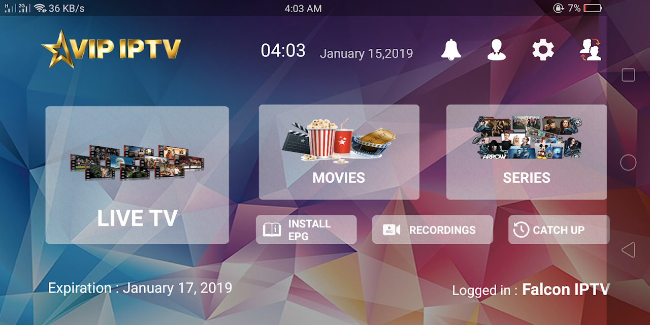 VIP IPTV 1 6 9 APK Download by FALCON IPTV | Android APK
