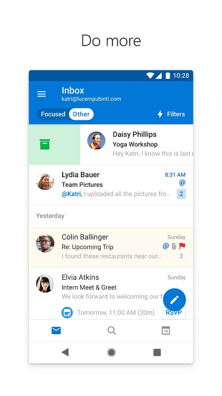 Android Microsoft Outlook Screen 7