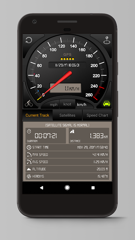 Android Speedometer GPS Pro Screen 1