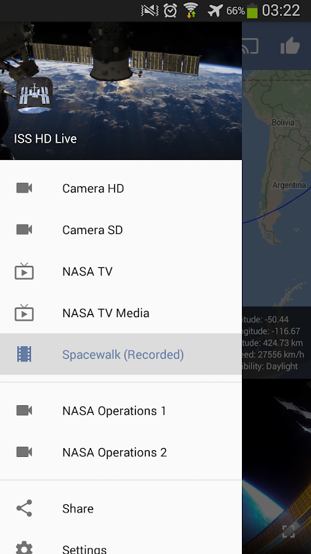 Android ISS HD Live: View Earth Live Screen 20