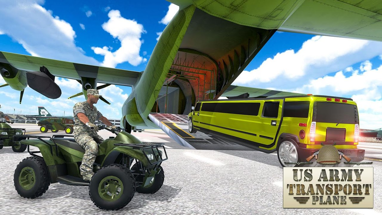 Android US Army ATV Quad Bike & Limo Car Plane Transporter Screen 7
