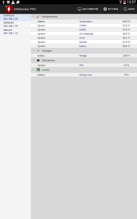 HWMonitor PRO 1.08 Screen 5