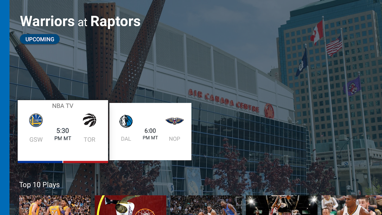 Android NBA for Android TV Screen 1