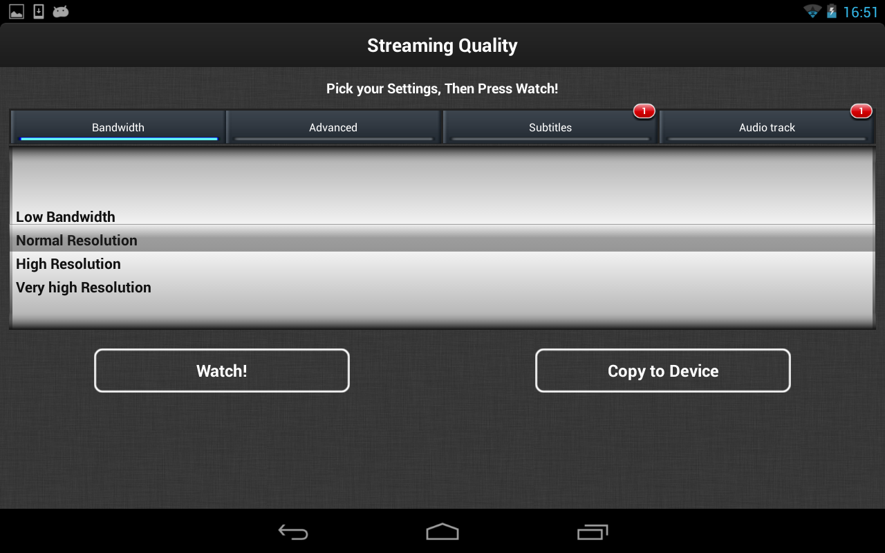 Android VLC Streamer Free Screen 2