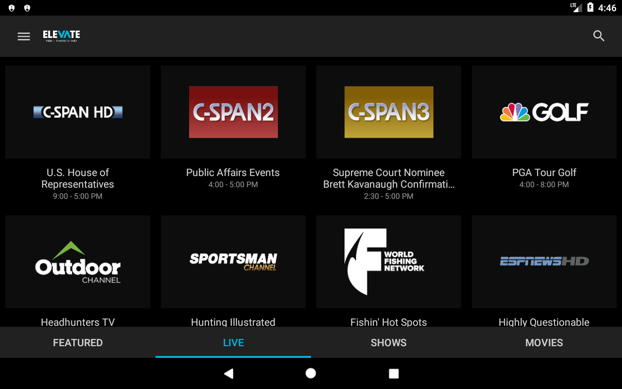 Android Elevate TV Screen 9