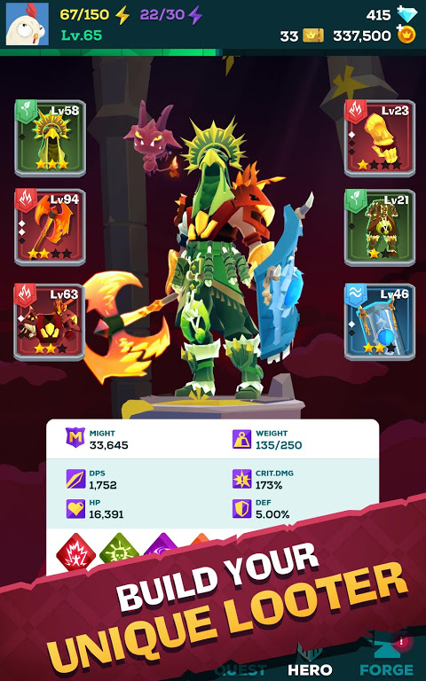 Android The Mighty Quest for Epic Loot Screen 8