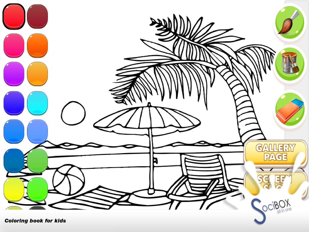 Android sea view coloring book Screen 9