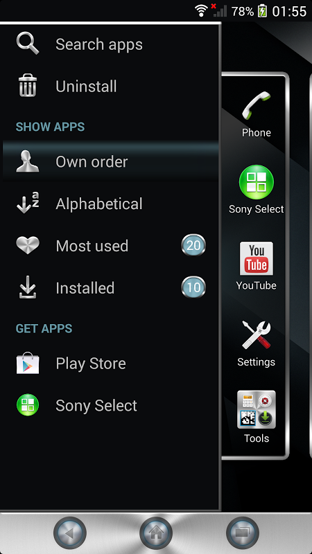 Android Xperia™ theme - Reality Screen 7