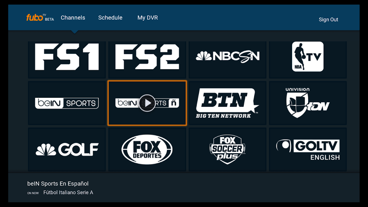 fuboTV - Live Sports and TV 2.2.5-androidtv Screen 3