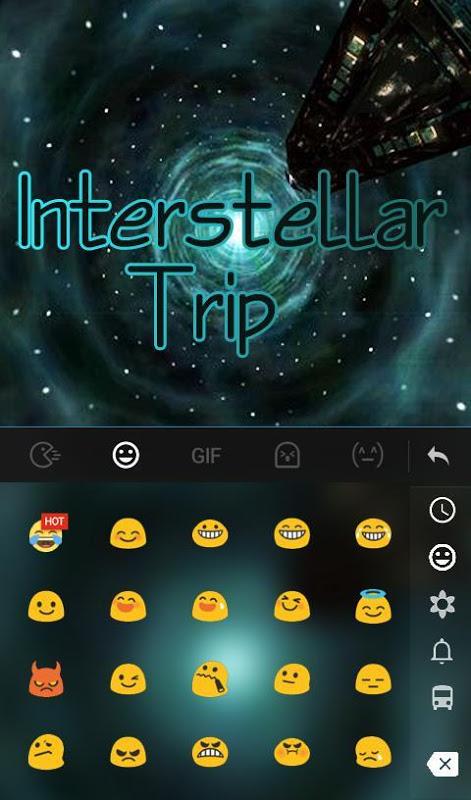 Android Interstellar Trip Keyboard Screen 3