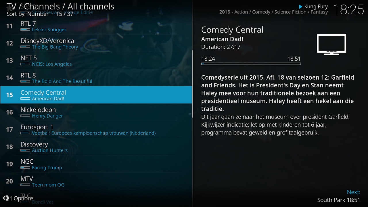 Kodi 18.0-RC3 Screen 1