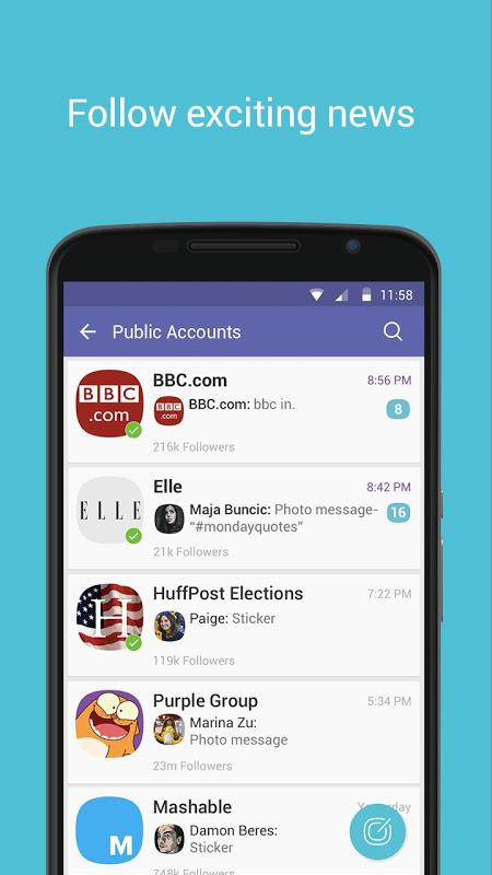 Android Viber Messenger Screen 10