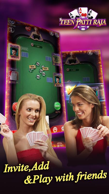 Android Teen Patti Raja- Indian poker and 3 patti free casino game Screen 1