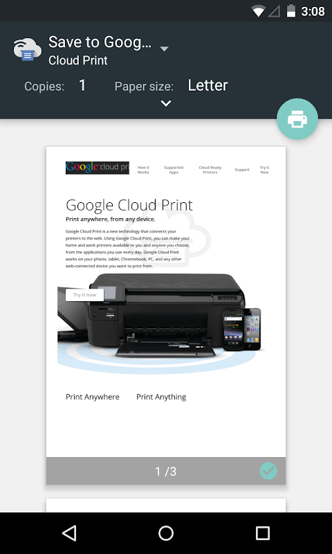 Cloud Print 1.42 Screen 1