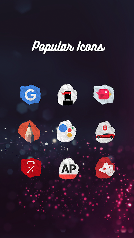 Icon Pack - Paper Shaped Original Icons 1.1.017 Screen 5