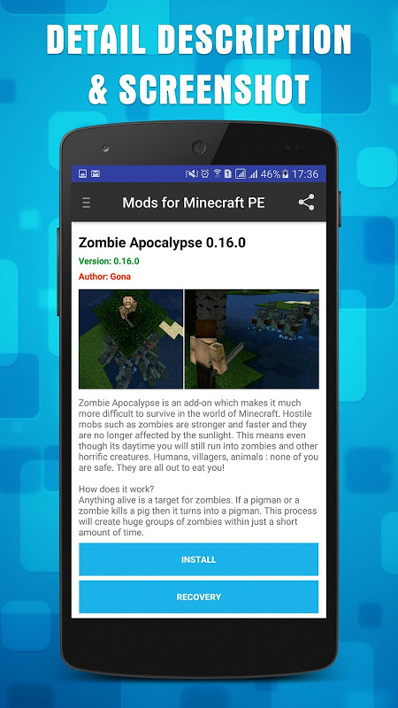 Mods for Minecraft PE 1.11.1 Screen 2