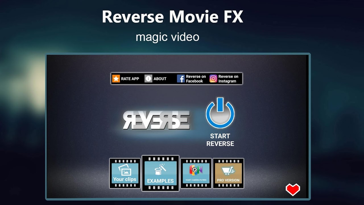 Android Reverse Movie FX - magic video Screen 5