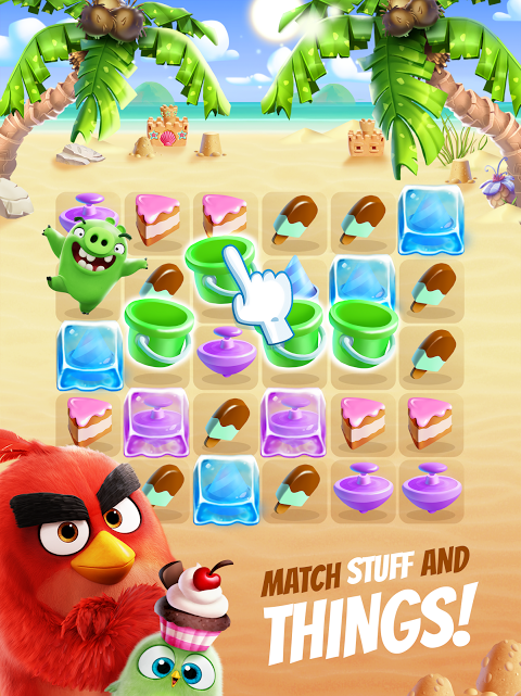 Android Angry Birds Match Screen 6
