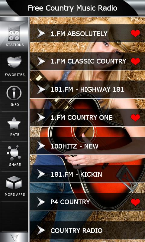 com.popularradiostations.freecountrymusic 1.8 Screen 1