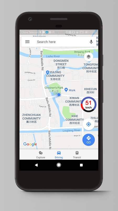 Speed View GPS Pro 1.4.16(googlemap) Screen 6