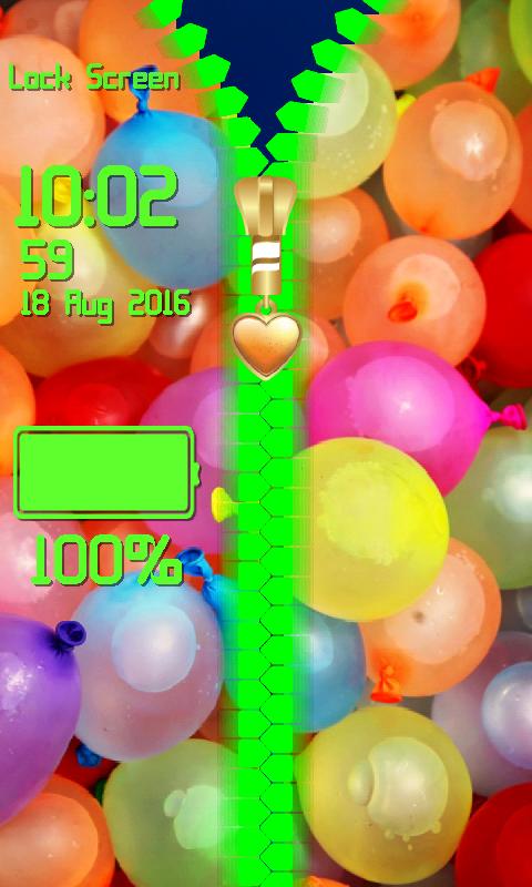 Android Balloon Zipper Lock Screen Screen 6